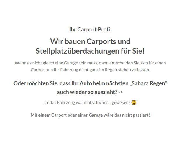 Carportbau